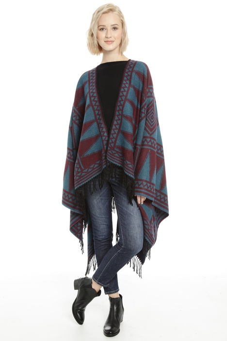 Poncho over asimmetrico Fashion Market