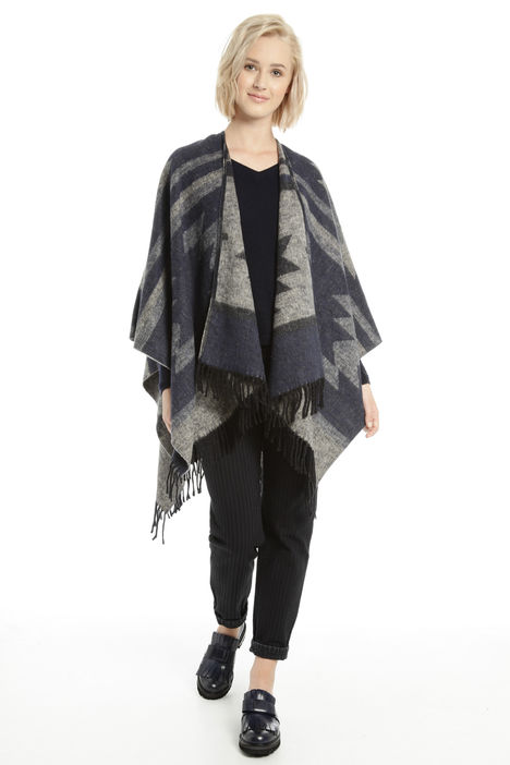 Poncho in misto cotone Fashion Market