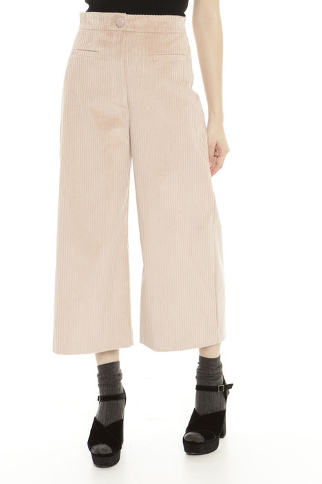 Pantalone cropped stretch a coste Fashion Market