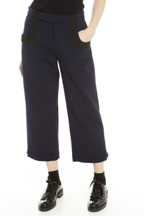 Pantaloni cropped con bottoni Fashion Market