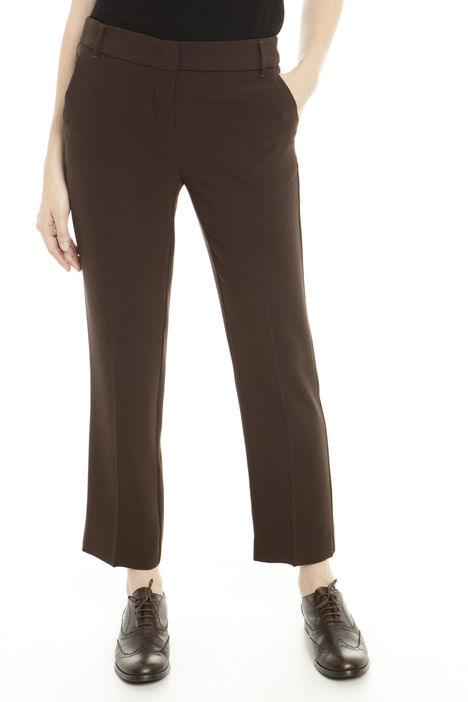 Pantaloni  cropped in cady Fashion Market