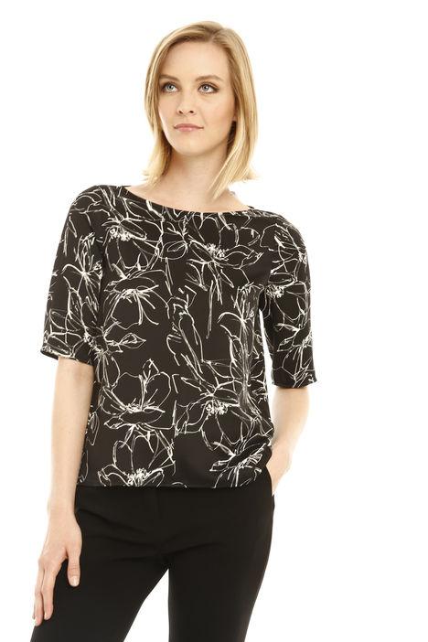 Blusa stampata in crepe Fashion Market