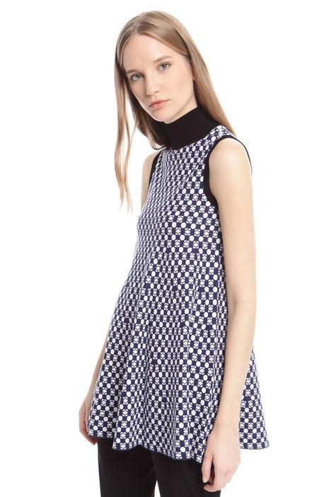 Top svasato jacquard Fashion Market
