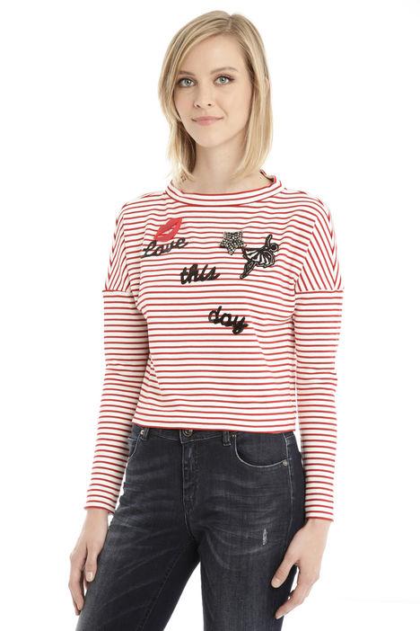T-shirt con applicazioni Fashion Market