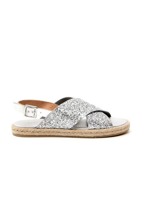 Sandalo basso glitterato Fashion Market