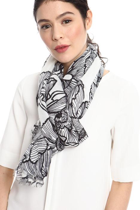 Sciarpa stampa papaveri Fashion Market