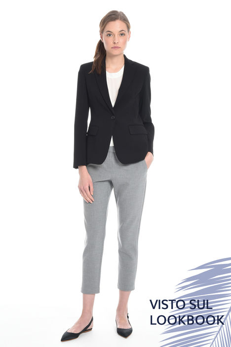 Blazer in cady di triacetato Fashion Market