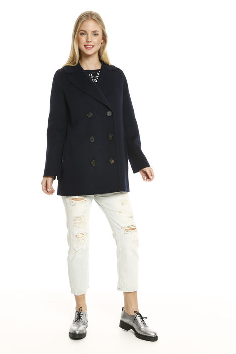 Cappotto doppiopetto in angora Fashion Market