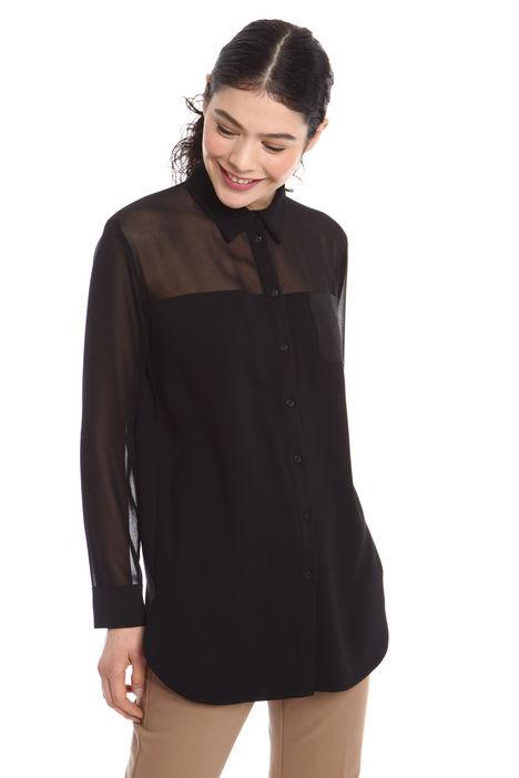 Camicia con carré trasparente Fashion Market