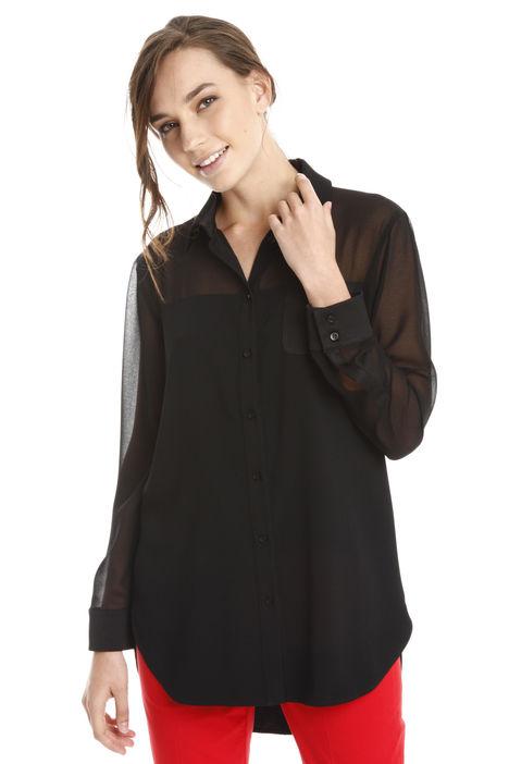 Camicia con carrè trasparente Fashion Market