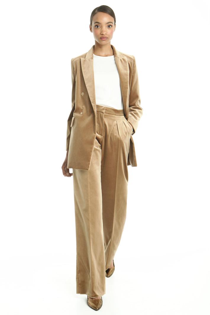 Blazer lungo in velluto Fashion Market