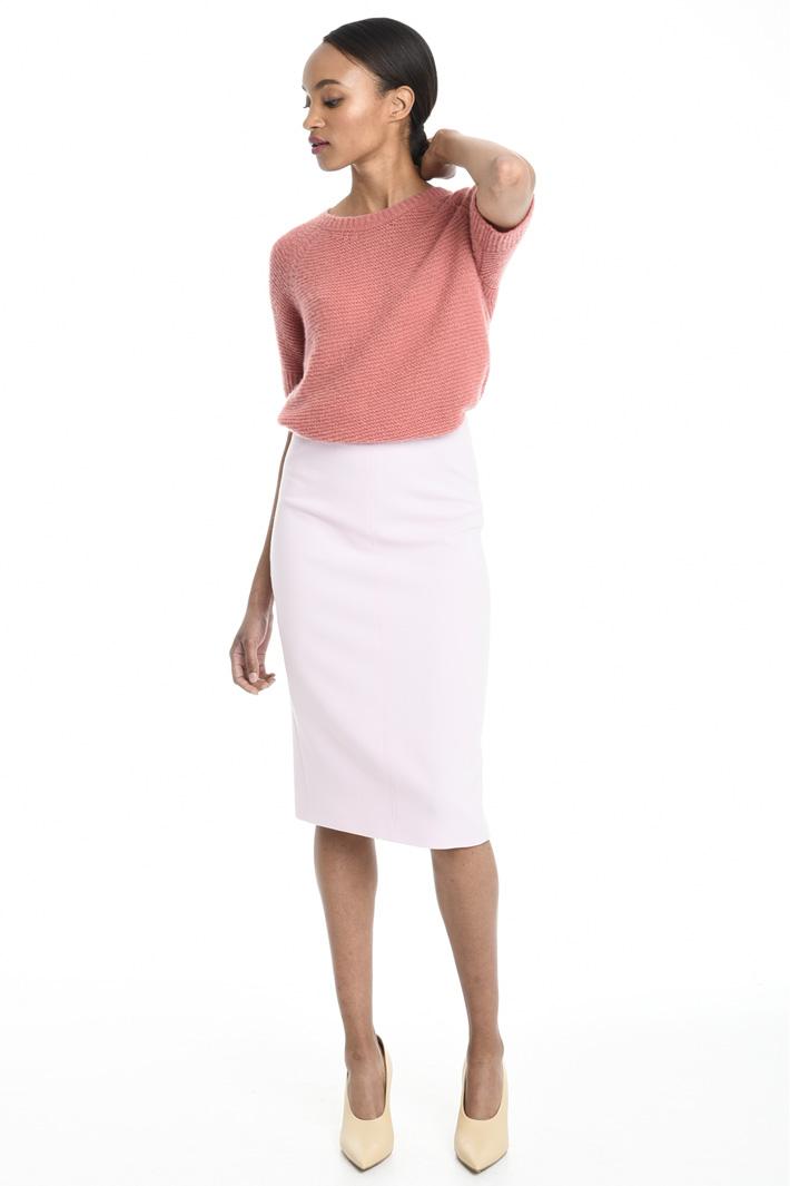 Gonna in crepe di lana vergine Fashion Market