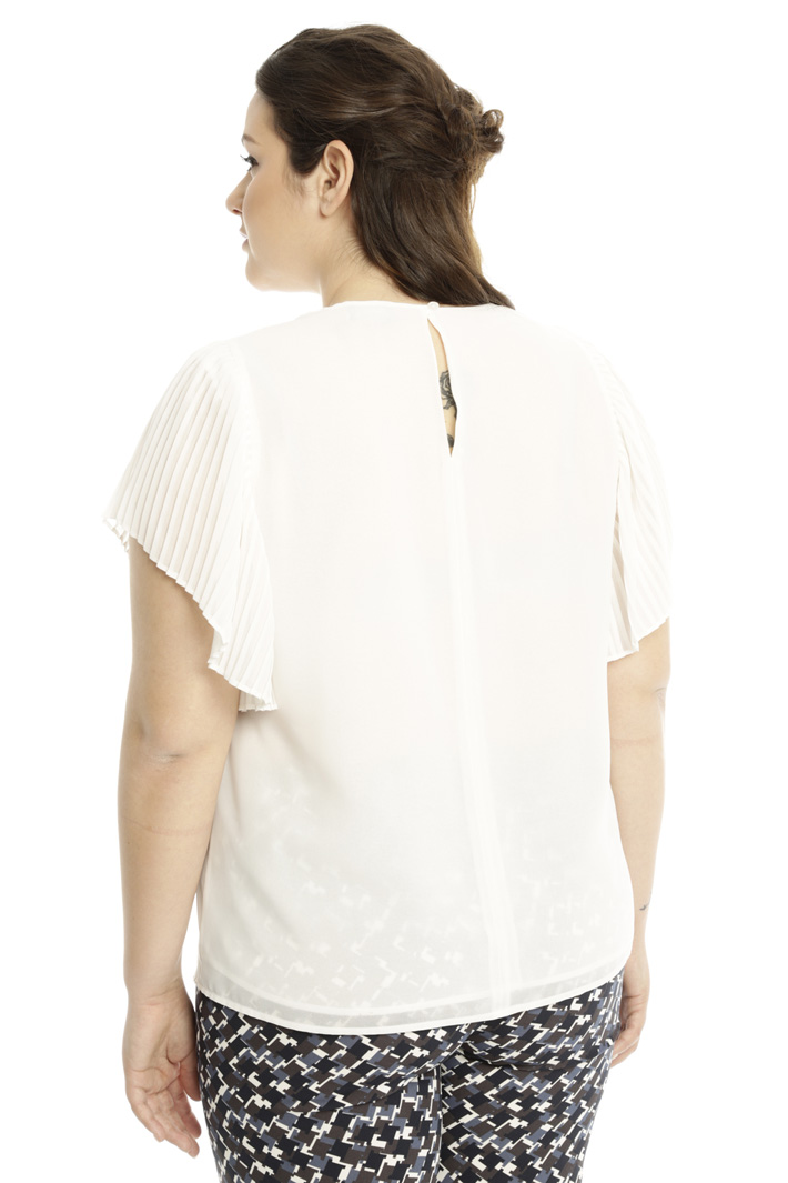 Top con maniche plissé Fashion Market