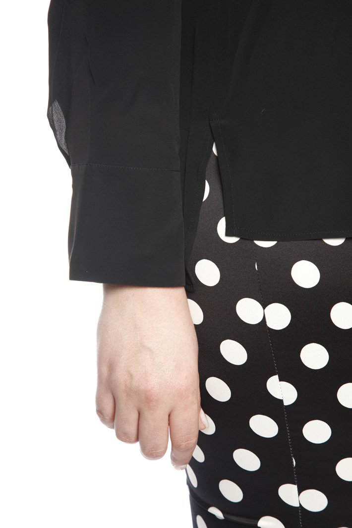 Blusa in crespo di seta Fashion Market