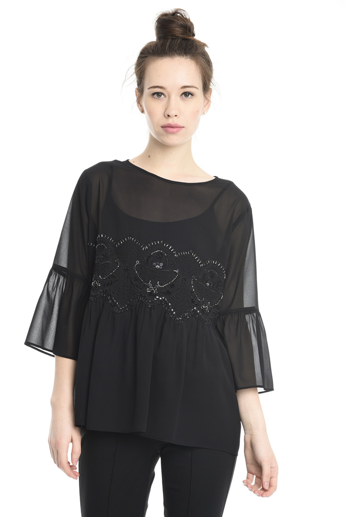 Blusa con ricamo di jais Fashion Market