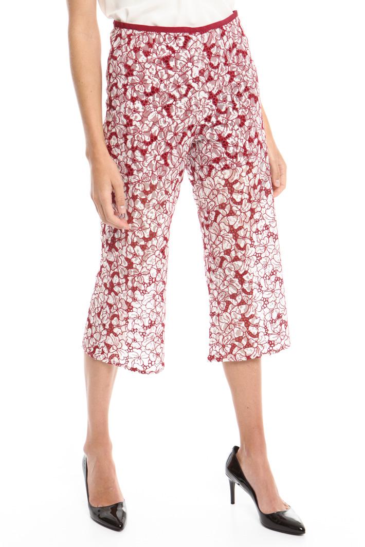 Pantalone in pizzo ricamato Fashion Market