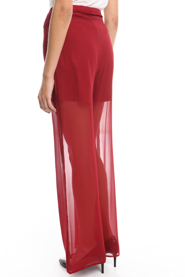 Pantalone ampio in georgette Fashion Market