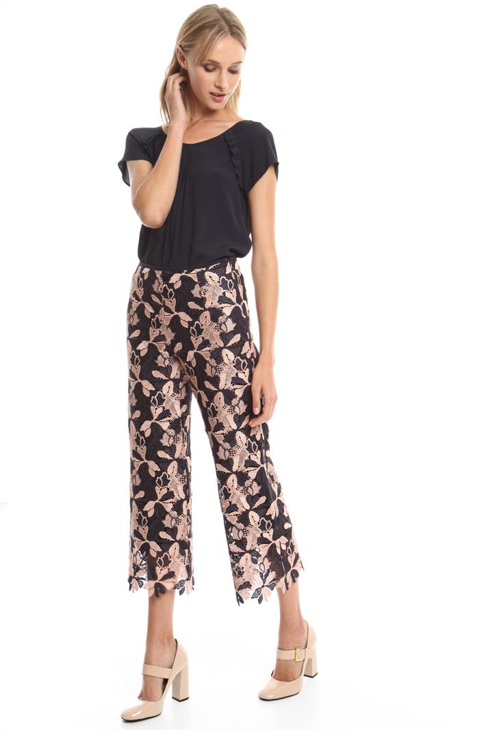 Pantalone in pizzo macramé Fashion Market