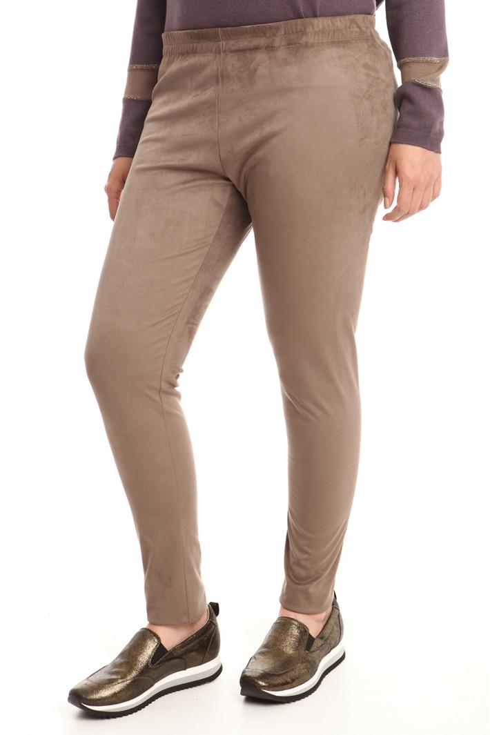 Leggings effetto scamosciato Fashion Market