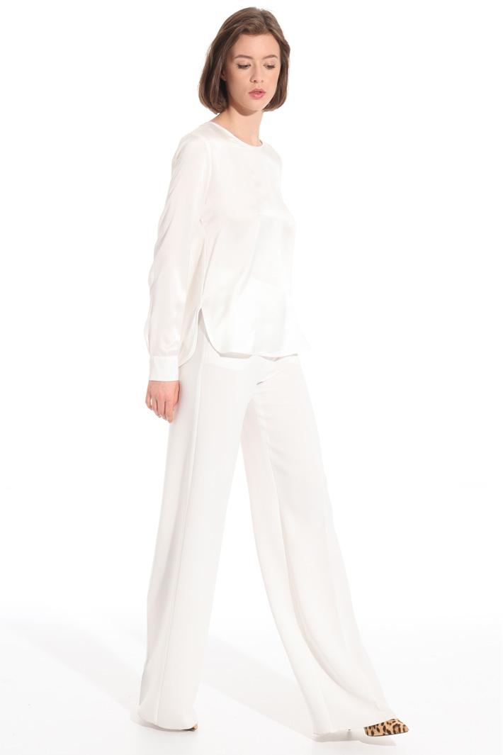 Pantalone palazzo a vita alta Fashion Market