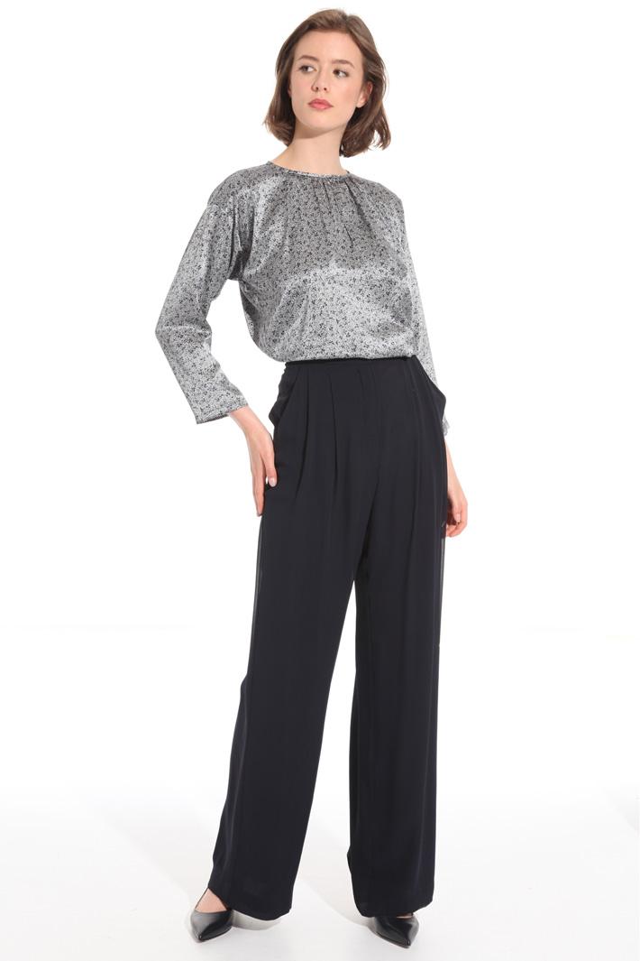 Pantalone in georgette di seta Fashion Market