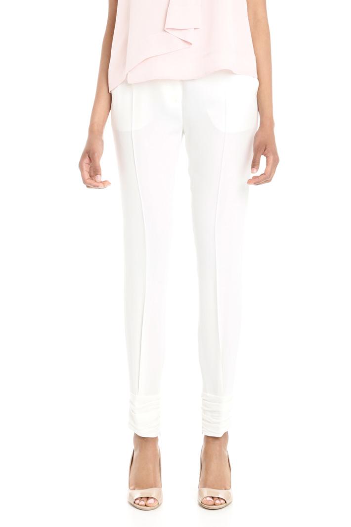 Pantaloni in enver satin Fashion Market