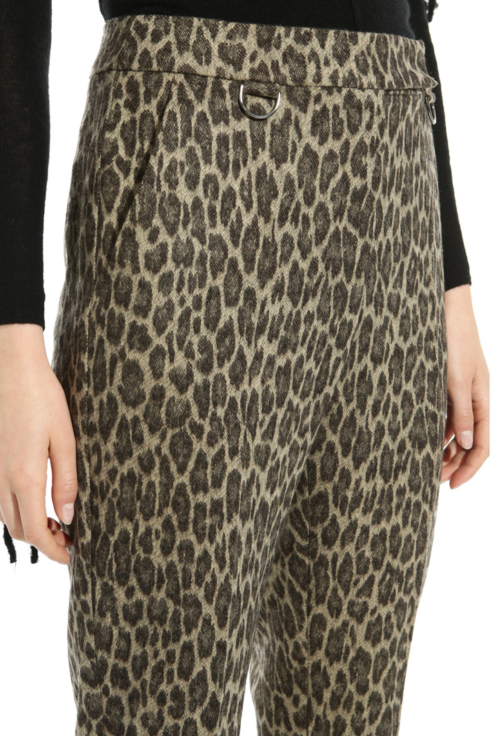 Pantalone in flanella jacquard Fashion Market