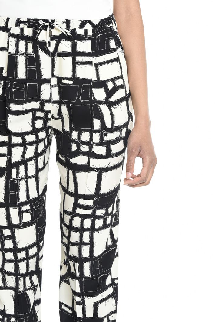 Pantalone fluido in seta Fashion Market