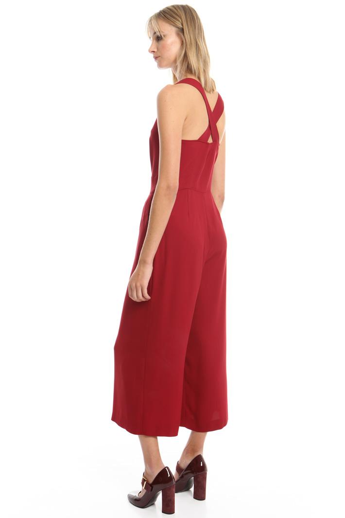 Tuta cropped in cady stretch Fashion Market