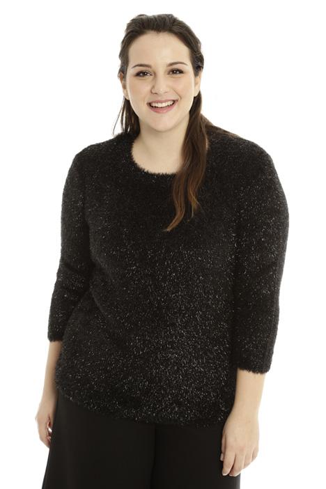 Maglia lurex effetto pelliccia Fashion Market
