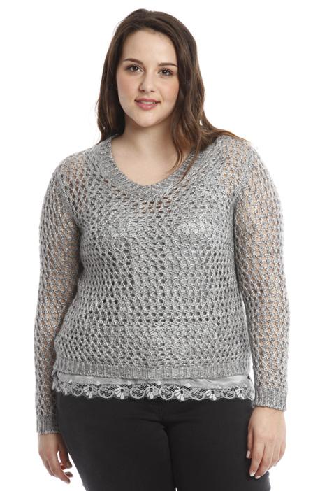 Maglia traforata in lana Fashion Market