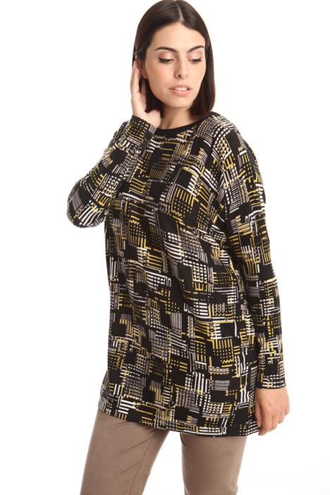 Maglia in viscosa stampata Fashion Market