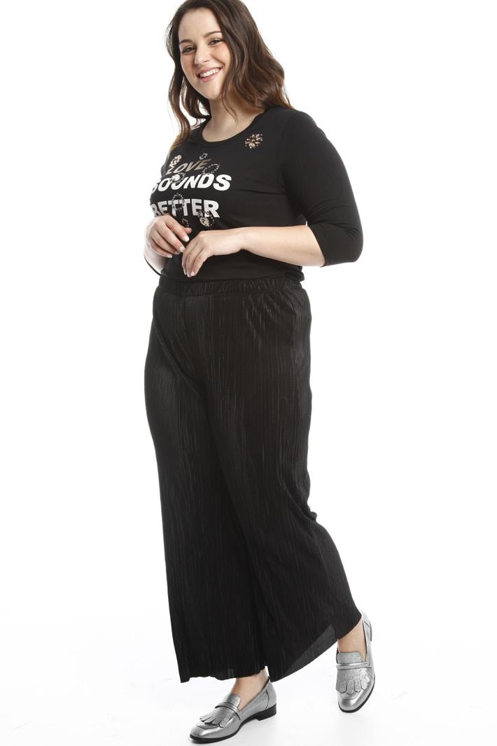 Pantalone lucido plissé Fashion Market