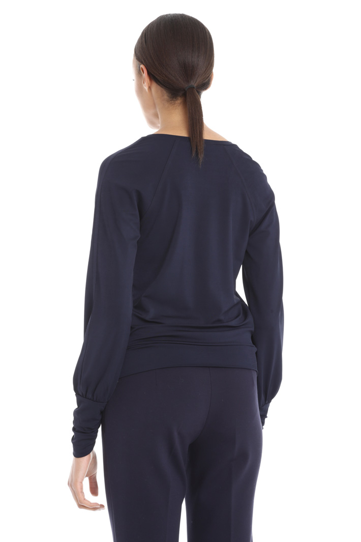 Top in jersey con polsini Fashion Market