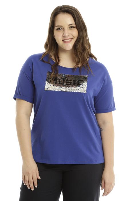 T-shirt con ricamo paillettes Fashion Market