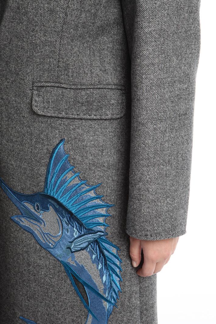 Cappotto con maxi ricamo Fashion Market