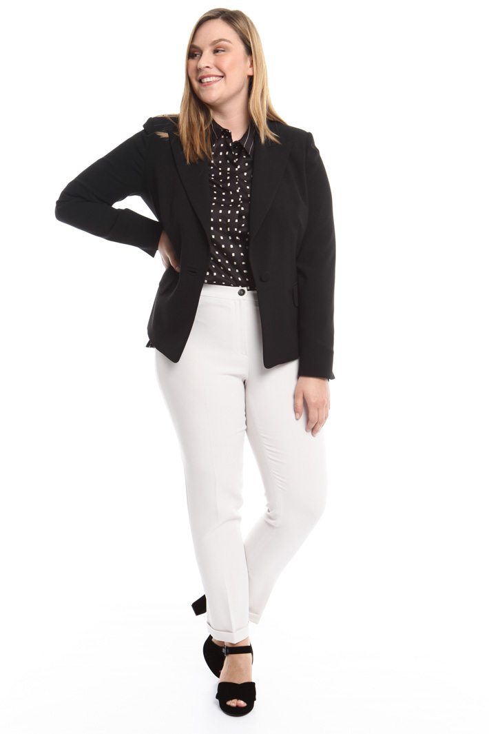Giacca blazer in triacetato  Fashion Market