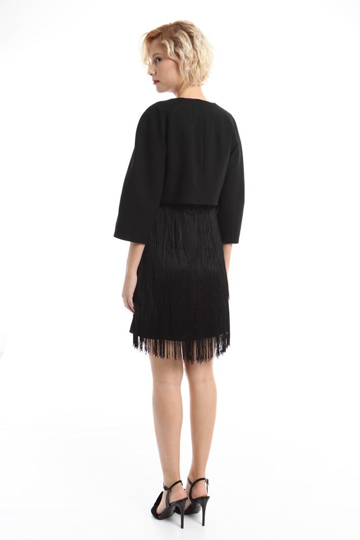 Giacca boxy in tessuto crepe Fashion Market