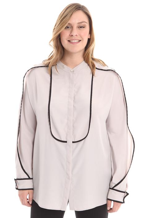 Camicia con profili contrasto Fashion Market