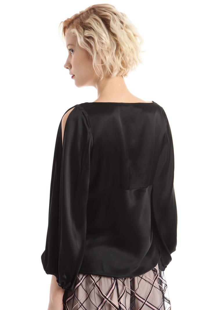 Top in raso di viscosa Fashion Market