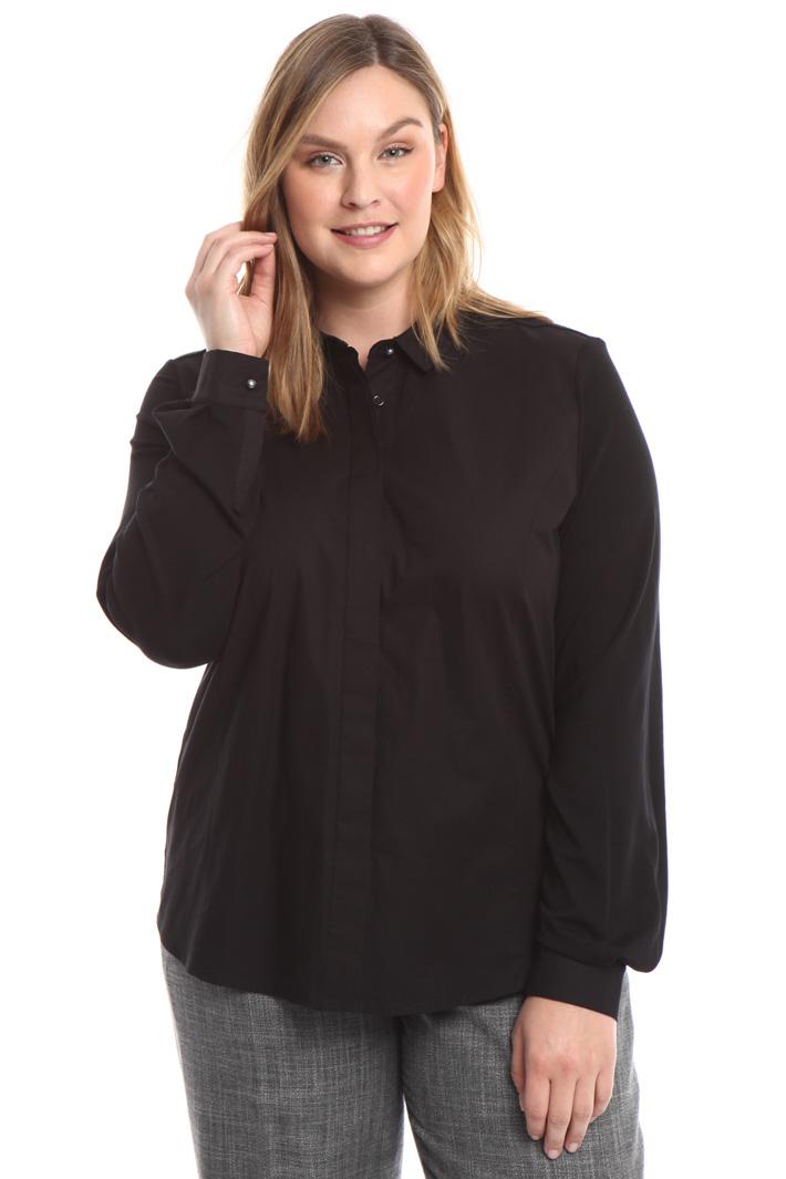 Camicia in popeline e jersey Fashion Market