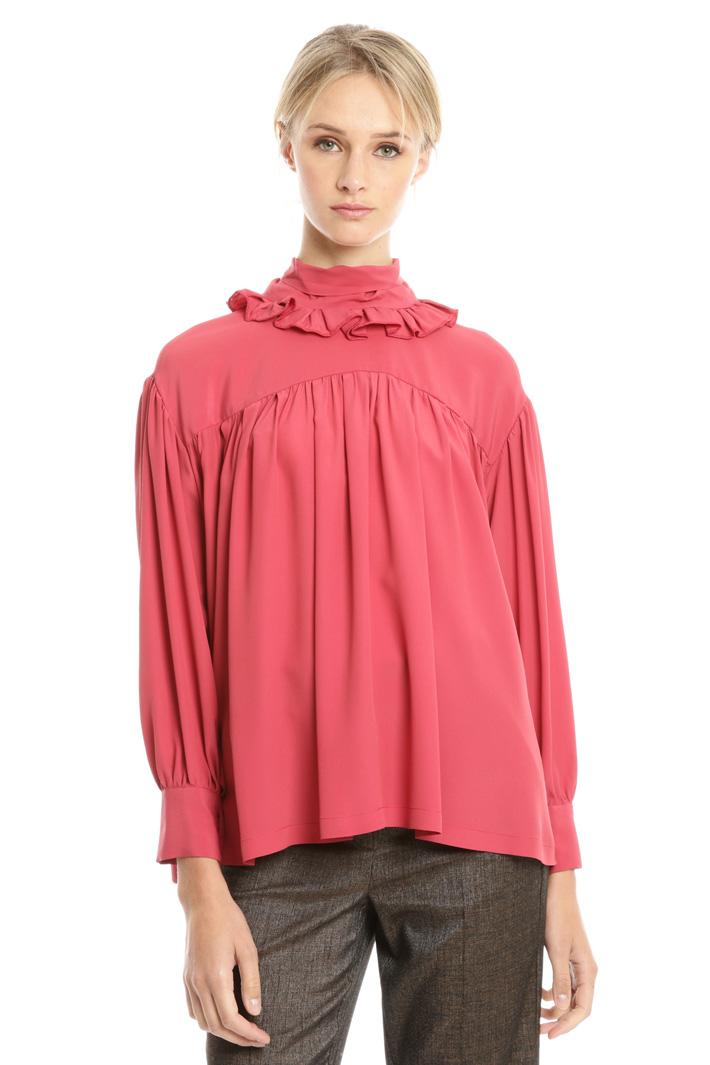 Blusa over con collo alto Fashion Market