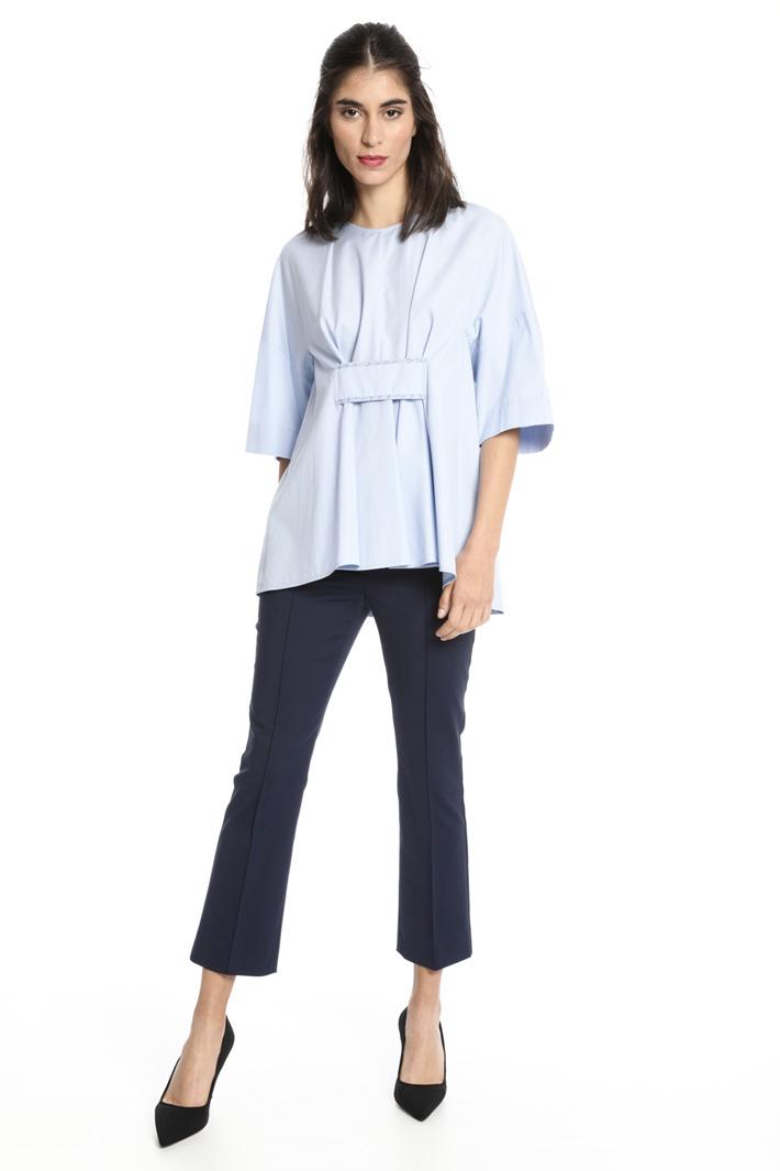 Blusa svasata con pieghe Fashion Market