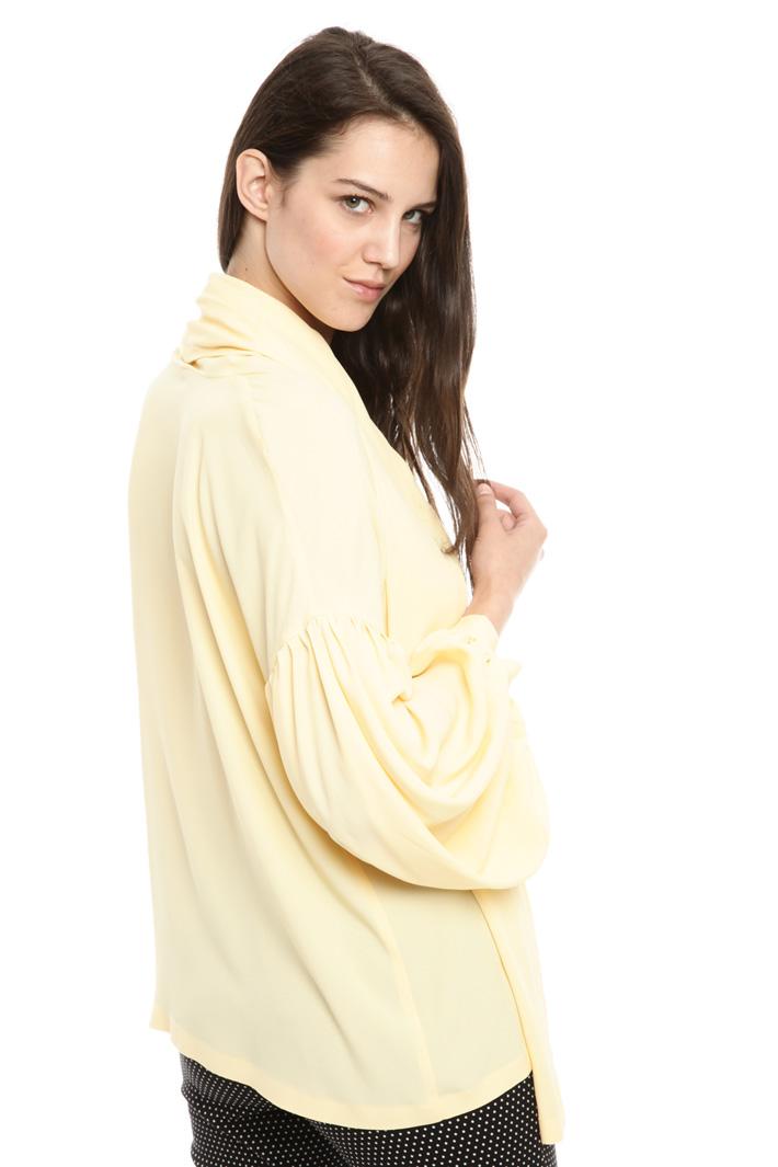 Blusa over in crepe di seta Fashion Market