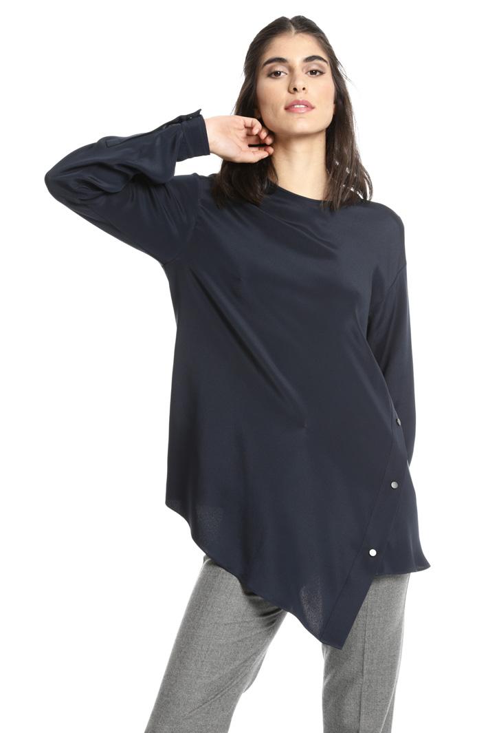 Blusa asimmetrica in seta Fashion Market