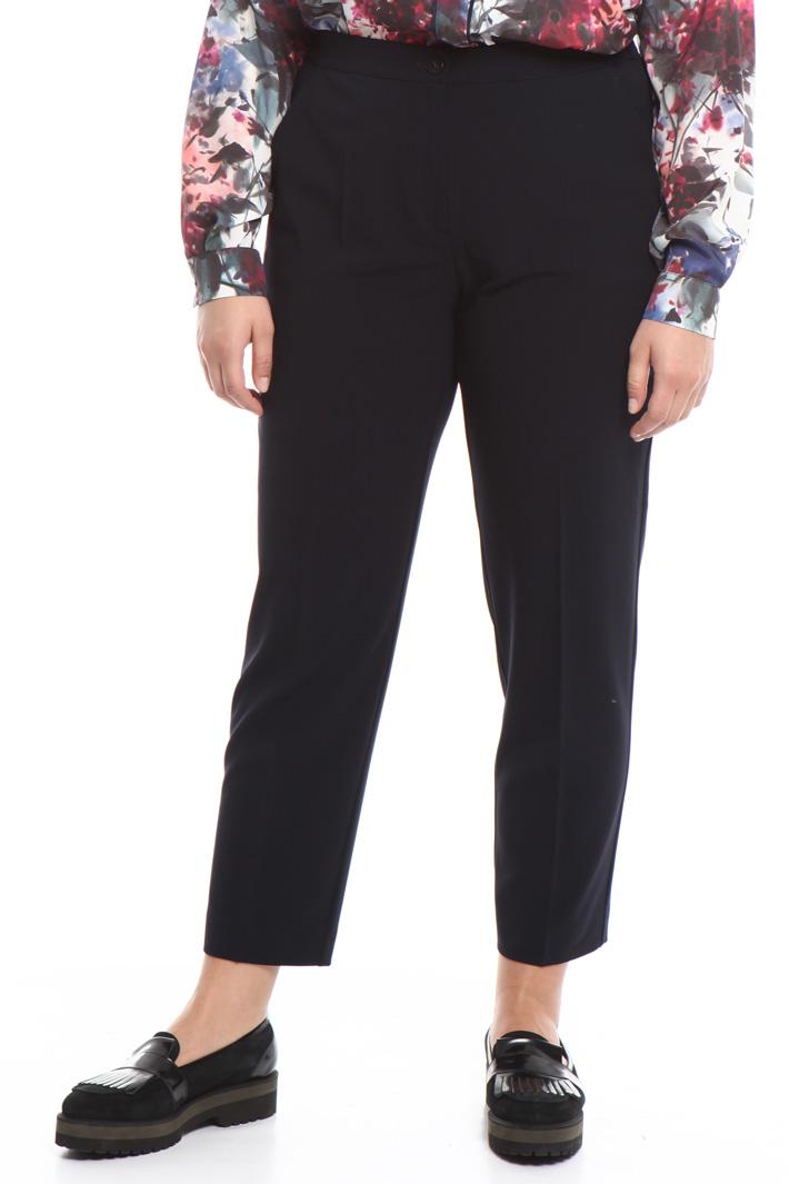 Pantalone in crepe di lana Fashion Market