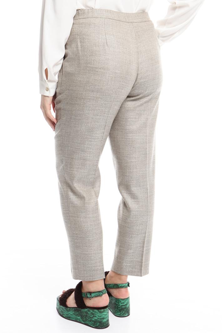 Pantalone in lana fiammata Fashion Market