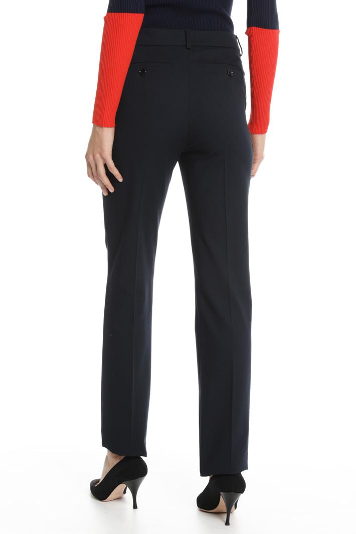 Pantalone in twill compatto Fashion Market