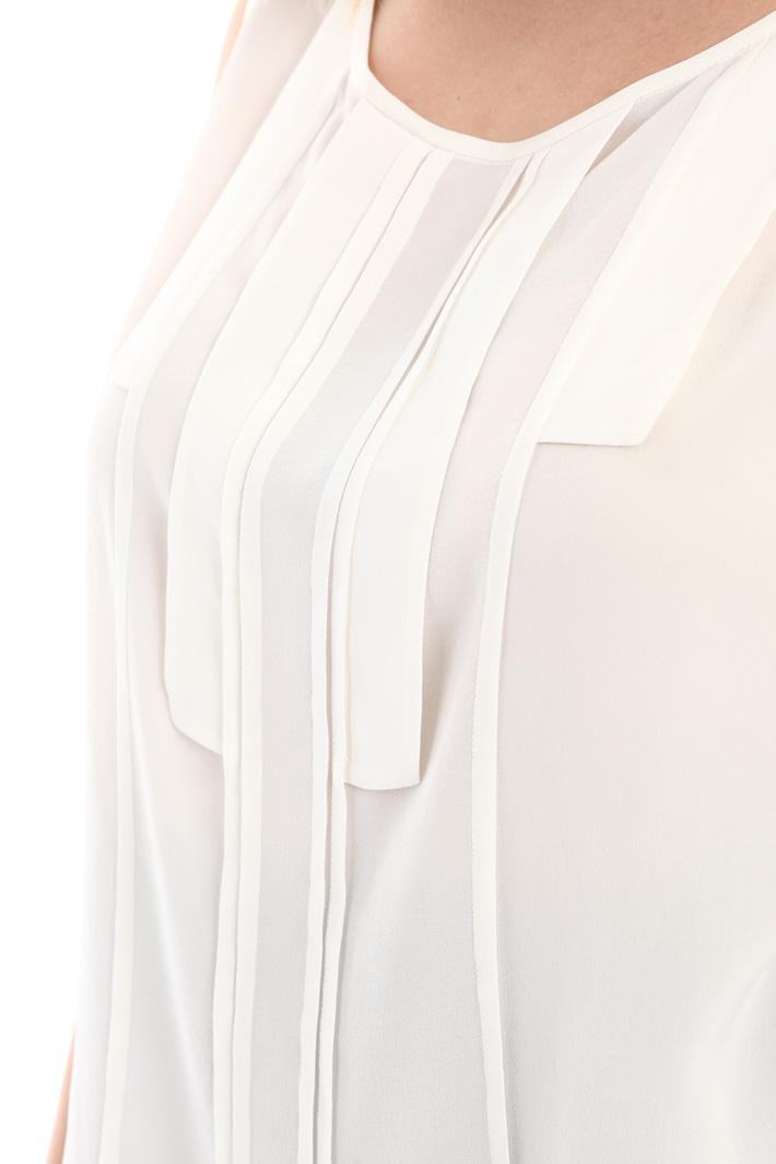 Top in seta con pieghe Fashion Market