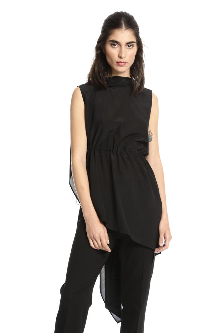 Top asimmetrico in seta Fashion Market